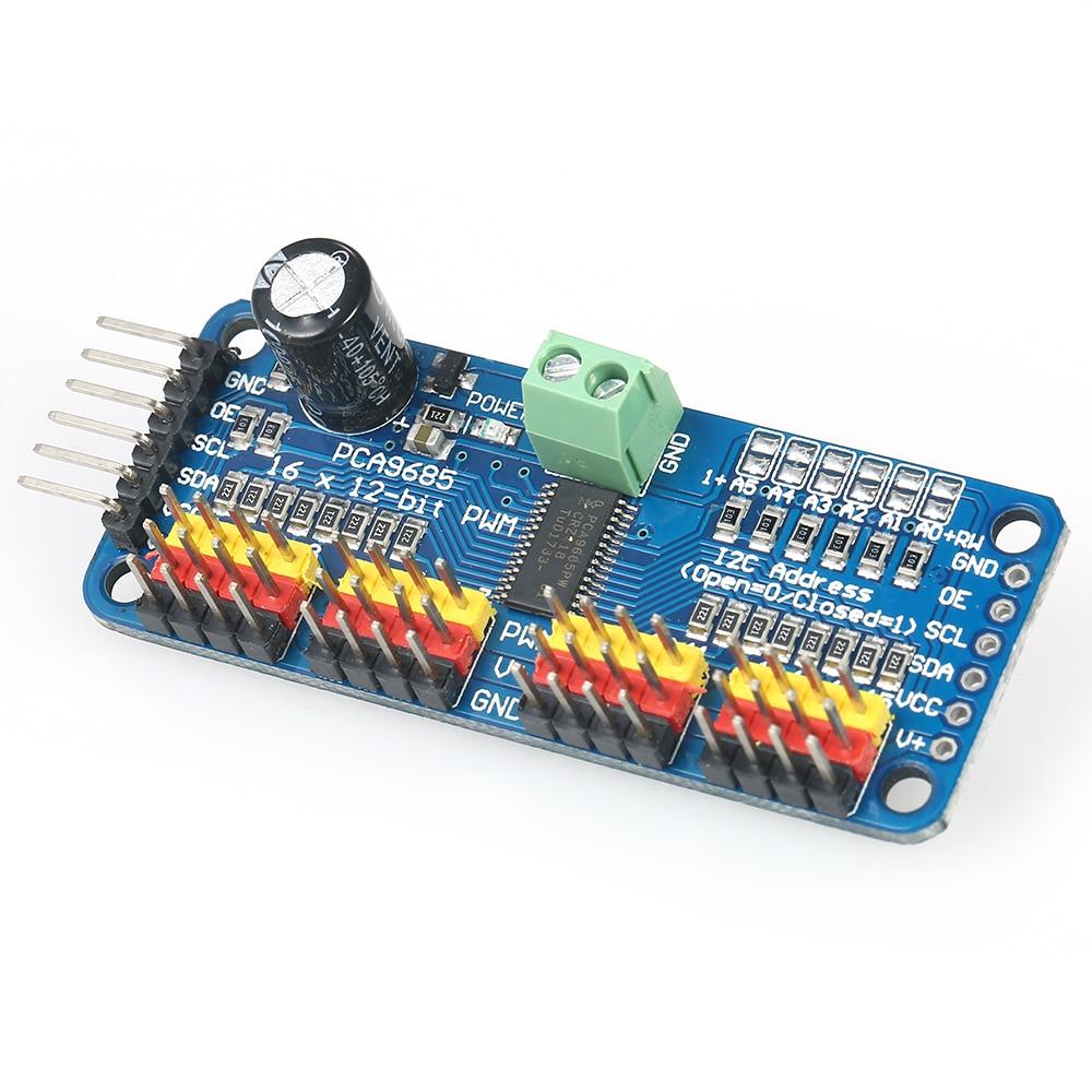 16-Channel 12-bit PWM Servo Driver I2C PCA9685 For Arduino