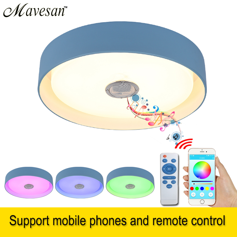 Modern LED ceiling Lights RGB Dimmable 36W APP Remote control Bluetooth Music light foyer baby bedroom ceiling lamp 165-265V