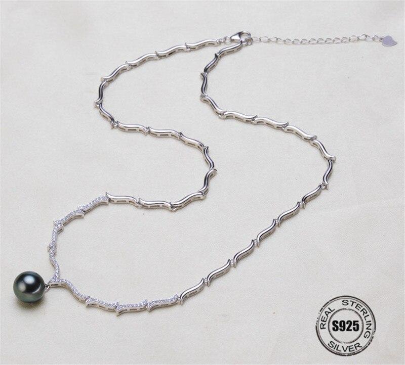 Collier pendentif résultats S925 en argent Sterling collier chaîne paramètres bijoux pièces raccords bijoux faisant des breloques
