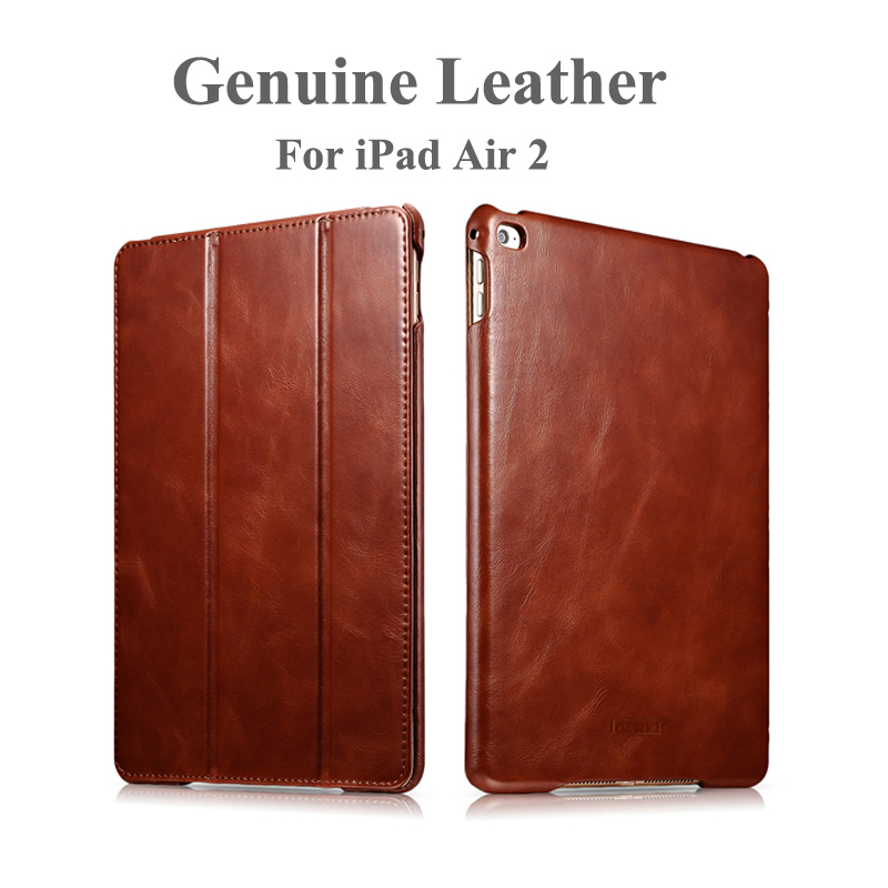 For iPad Air 2 Case Leather Benuo Genuine Leather Folio Flip Vintage Ultra-thin Standing Leather Case For iPad Air 2 Case Cover аксессуар чехол odoyo aircoat folio hard case для ipad air silver pa532sl