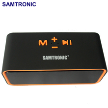 SAMTRONIC F8 Portable Bluetooth Speaker Wireless Speaker with FM HIFI Stereo Loudspeakers Super Bass Support TF/USB music Player