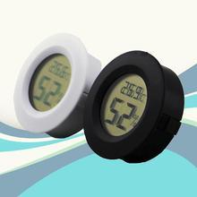 Mini Portable Round Digital LCD Display Temperature Humidity Thermometer HygrometerFridge Freezer Tester Temperature Humidity недорого