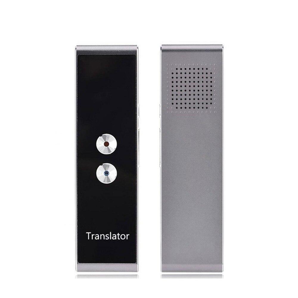 Tasca Lingua Traduttore Vocale 30 Lingue A Due Vie in Tempo Reale Citofono Portatile Traduttore Per Il Personale di Apprendimento Viaggiare