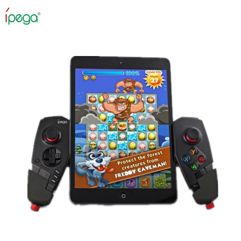 IPEGA PG 9055 Wireless Bluetooth Game Controller Joystick with Stretch Bracket for iOS ipad Android font