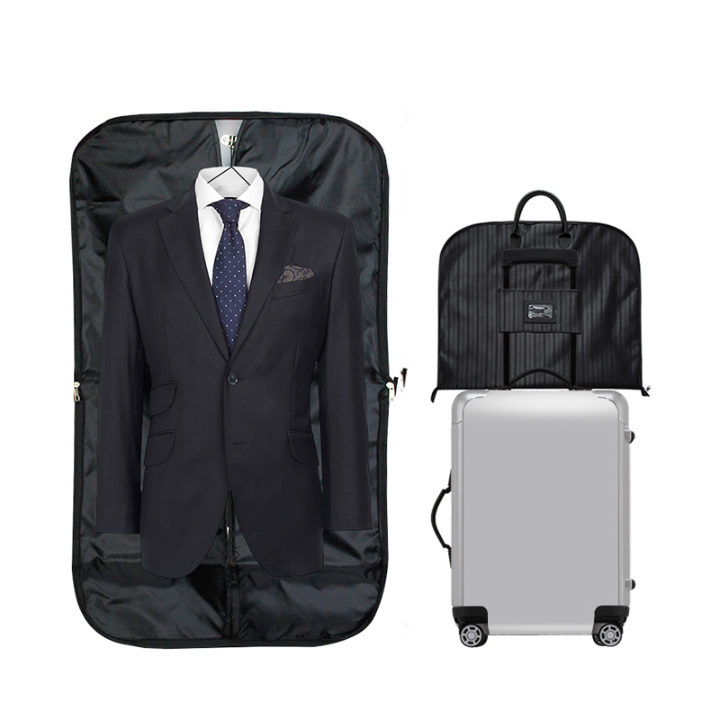 Men Suit Travel Bag Large Hand Luggage Hanger Coat Clothes Cover Organizer Business Zip Tote Trip Clothing Dustproof Accessories