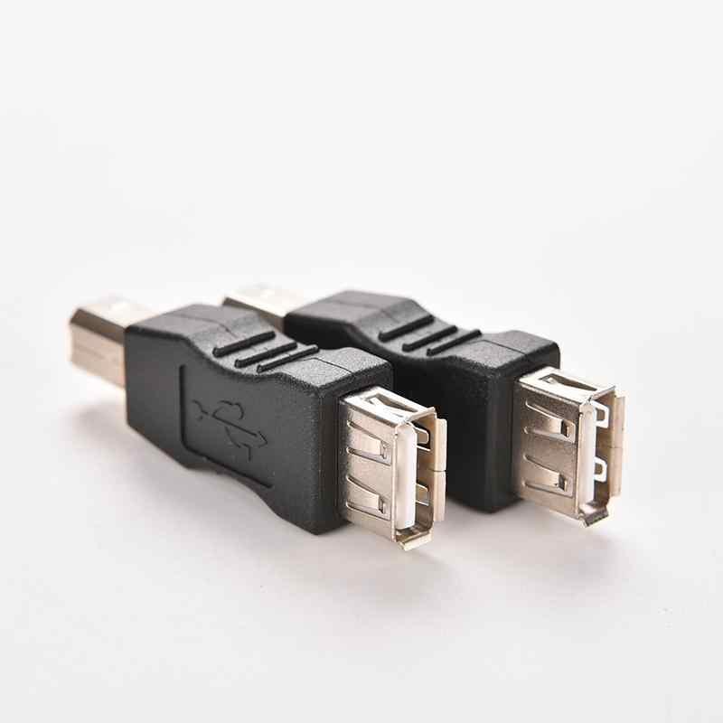 1 unidad nuevo USB 2,0 tipo A hembra A USB tipo B macho convertidor adaptador USB Cable de impresión cambiador