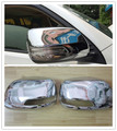 Car Styling!2pcs Chrome Door Rearview Mirror Covers Decoration Trim For Toyota Prado Land Cruiser 150 FJ150 2014 2015