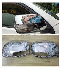 Car Styling!2pcs Chrome Door Rearview Mirror Covers Decoration Trim For Toyota Prado Land Cruiser 150 FJ150 2014 2015
