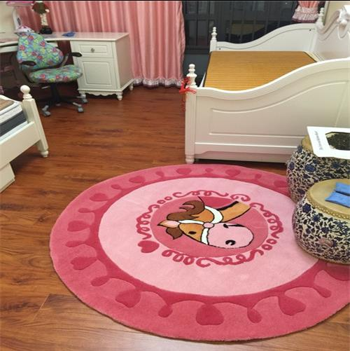 90CM Round Acrylic Carpets For Living Room Coffee Table/Children ...