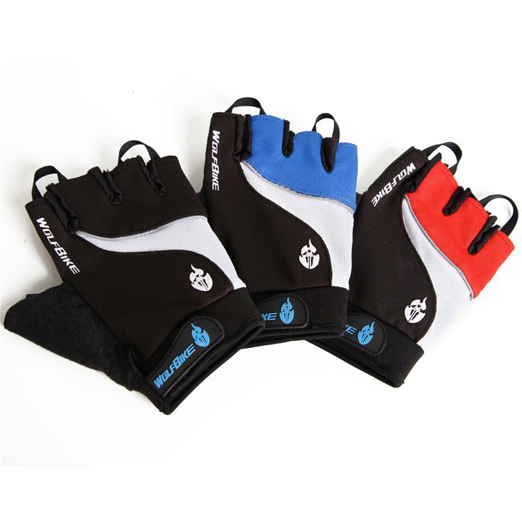 WOLFBIKE Brand Non-slip Short Gloves Mitten Road MTB Motorcycle Cycling Bike Bicycle Racing Riding Breathable Half Finger Glove - Sunshine riding store