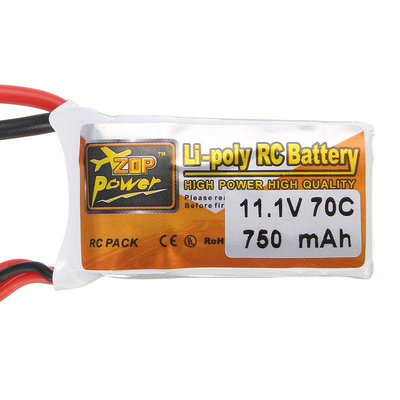 High Quality ZOP Power 11.1V 750mAh 3S 70C Lipo Battery T Plug For RC Drones Quadcopter Spare Parts high quality zop power 11 1v 1500mah 25c lipo battery t plug