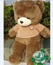 new plush teddy bear toy stuffed bear toy teddy bear birthday brown clothes bear about 110cm