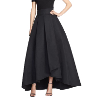 2016 England High Low Long Skirts For Women Navy Blue Old Green Black Long Skirt Women Clothing Pleat Maxi Skirt