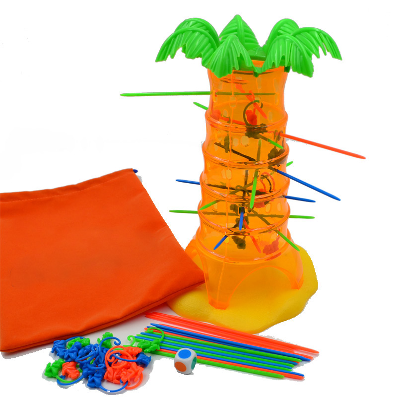 BOHS Falling Tumbling Monkeys Game of Skill & Action Children Kids Toys Hobbies Parenting Family Game ,with Storage Bag