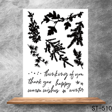 Beautiful nature Transparent Clear Stamps DIY Scrapbooking Album Card Making Decoration Embossing Stencil