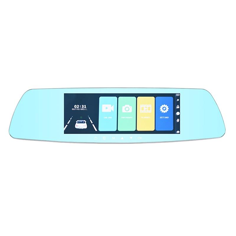 цена на 7 1080P Touch Screen Dash Camera Car DVR Dual Lens Camera Rearview Mirror Video Recorder Dash Cam Auto Camera Portable Recorder