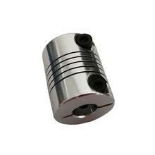 4 pces d20l25 5x8mm alumínio eixo z acoplamento flexível para acoplamentos de eixo do motor deslizante acoplador peças de impressora 3d acessório