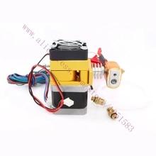 12 / 24 V ventilador 3D impresora MK9 extrusora, calentador 100 K termistor ntc, tubo de ptfe, 0.2 – 0.5 mm boquilla opcional, 1.75 mm Makerbot / Reprap