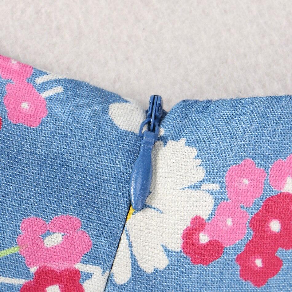 Copii de vară Rochie de îmbrăcăminte pentru fete Rochie de flori - Haine copii - Fotografie 3