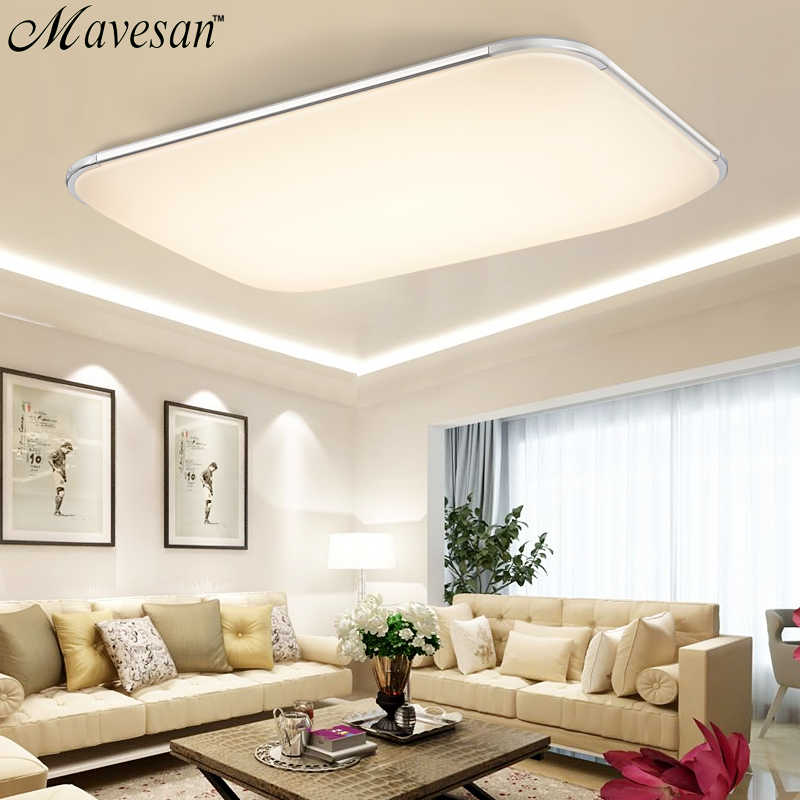 Plafoniera Led Rgb.Modern Led Ceiling Lights For Living Room Square Lustres Plafoniera Led Dimmer Rgb Ceiling Lamps Bedroom Luminaria Teto Remote