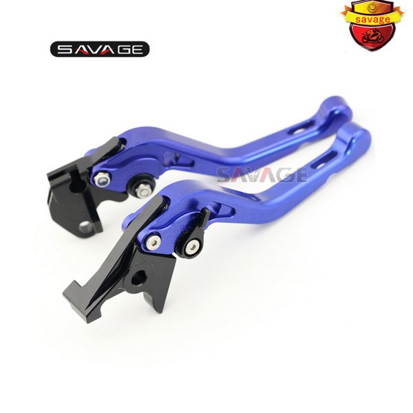 ФОТО For YAMAHA FZS600 FAZER XJR 400/R XJR400 XJR400R Motorcycle Accessories CNC Aluminum Adjustable Short Brake Clutch Levers Blue