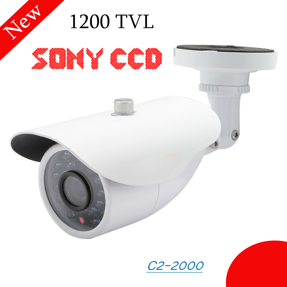 Home security camera 1200TVL Color CCTV Camera Sony CCD IR Cut Day/Night Outdoor Waterproof Bullet Camera cctv surveillance free shipping sony ccd cctv camera 1200tvl ir cut filter security ir dome camera indoor home security night vision video camera