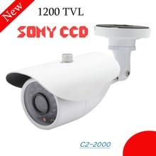Home security camera 1200TVL Color CCTV Camera Sony CCD IR Cut Day/Night Outdoor Waterproof Bullet Camera cctv surveillance