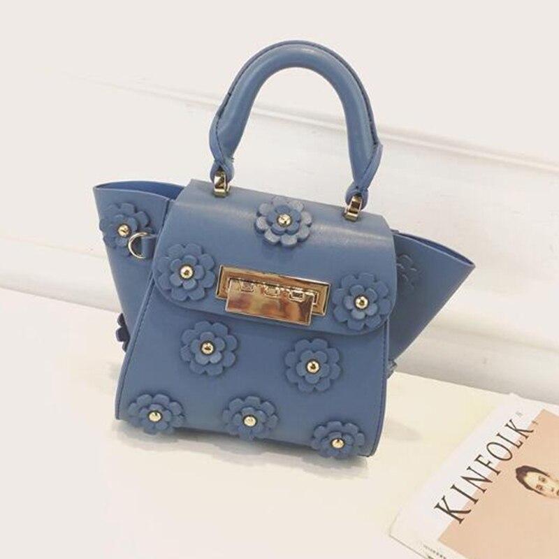 ФОТО New Fashion Women Rivets Handbag Shoulder Diagonal Package Flowers Retro Messenger Bags