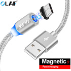 OLAF Type C USB C Cable For Huawei P10 P20 Pro Magnetic Charging Wire Cord Magnetic Type-c Cable For Samsung S9 S8 Plus Note 8