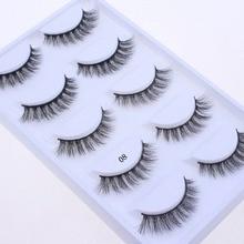 Makeup-Kit Eyelash-Extension Mink-Lashes Cilios-08 HBZGTLAD Natural Real-Mink 5-Pairs