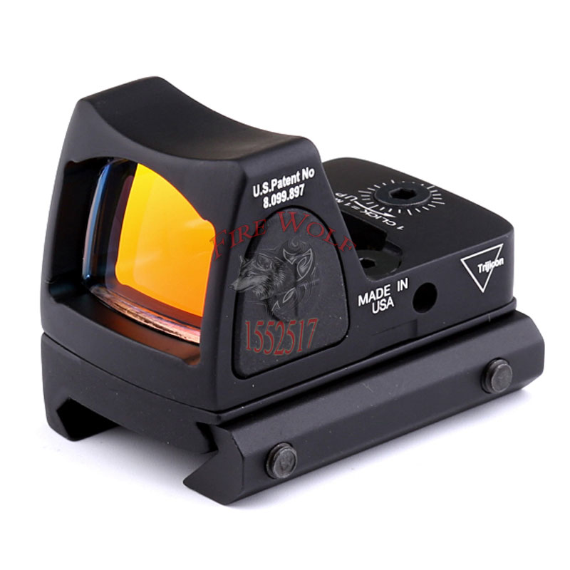 ФОТО  NEW Promotion Hot Sale Trijicon Style Red Dot Sight Can adjust the brightness With Switch For Hunting
