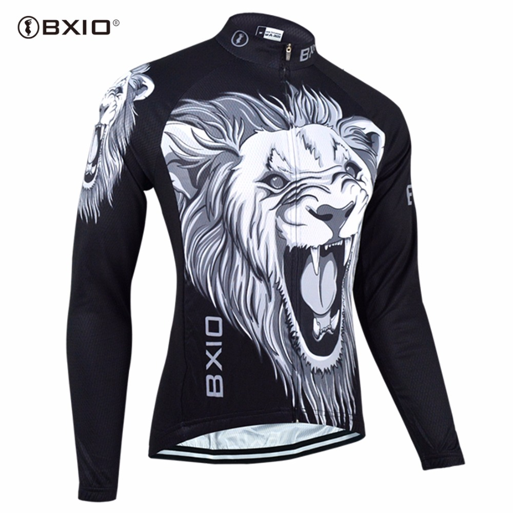 Bxio Men Cycling Jersey Pro Team Bicycle Clothing Long Sleeve Bike Shirt Breathable Outdoor Sportwear Clothes