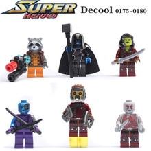 Decool 0175-0180 Guardians of the Galaxy Rocket Raccoon Minifigure Building Block Toys   Brick Gift