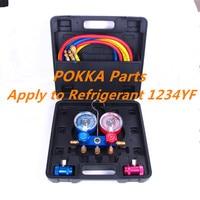 Refrigerant Charging 1234yf Manifold GAUGE,1234YF refrigerant pressure gauge,Refrigerant filling device