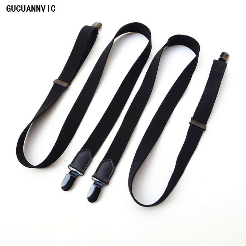 NEW GUCUANNVIC Classic Wild Do Not Cross Men Suspenders  General Fashionable Strap Black Clips  Width: 2.5cm Suspenders  Women