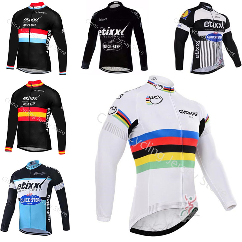 Quick step New Men Outdoor Sport Cycling Jerseys Bicycle Shirt Mountain  Bike Long Sleeve Tops Breathable 7784660a2