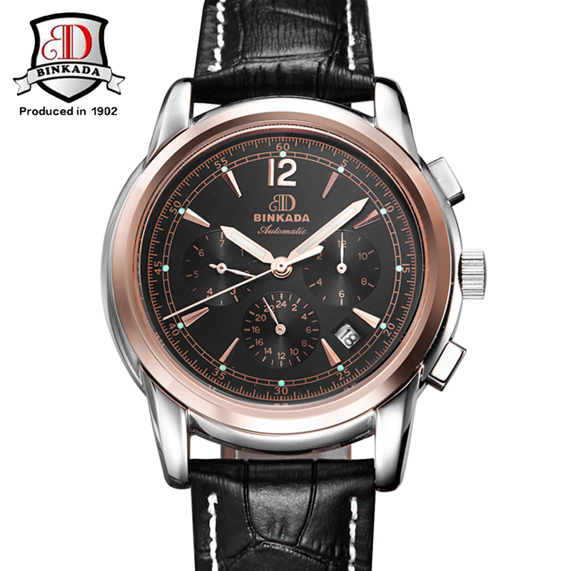 New Mechanical Mens Automatic Luxury Clock Fashion Men Waterproof Business Watch top Quality Brand Wristwatch Military Vintage