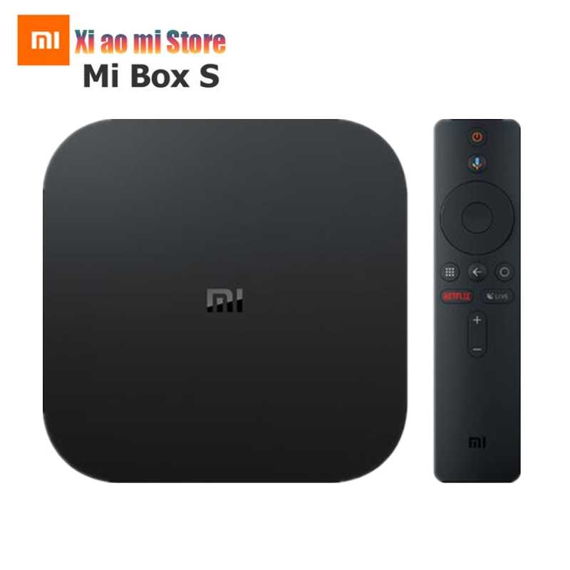 Xiaomi mi caixa s versão global 4 k hdr android caixa de tv streaming media player e google assistente remoto inteligente tv mi caixa 4