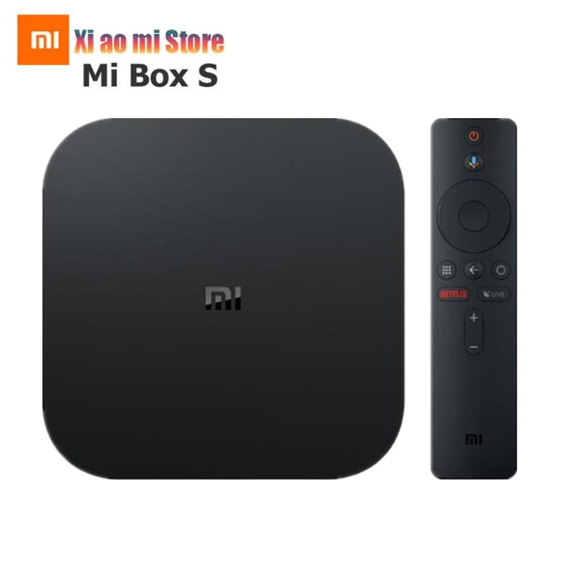 Xiao mi mi Box S Globale Version 4K HDR Android TV Box Strea mi ng Media Player und Google Assistent fernbedienung Smart TV mi Box 4
