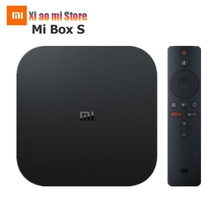 Xiaomi Mi Box S глобальная версия 4K HDR Android TV Box потоковый медиаплеер и Google Assistant удаленный Smart TV Mi Box 4