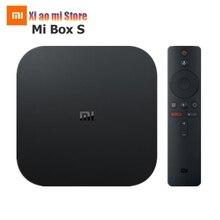 Xiaomi Mi Box S Version mondiale 4K HDR Android TV Box lecteur multimédia en Streaming et Google Assistant télécommande Smart TV Mi Box 4