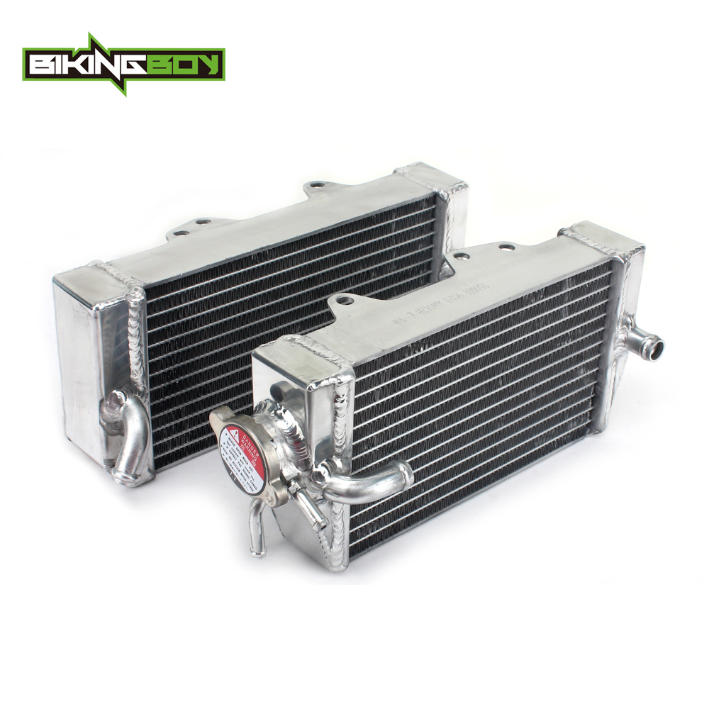 BIKINGBOY MX Offroad Motorcycle Engine Water Cooling Radiators For HONDA CRF 450 R 2002 2003 2004 CRF 450R CRF450R 02 03 04 for honda crf 250r 450r 2004 2006 crf 250x 450x 2004 2015 red motorcycle dirt bike off road cnc pivot brake clutch lever