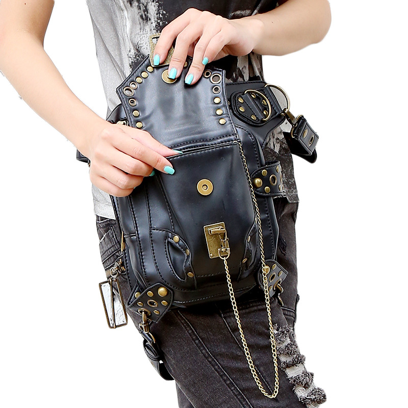 Lady fickor Partihandel Retro Messenger Bag Punk Män Kvinnors - Bälten väskor - Foto 3