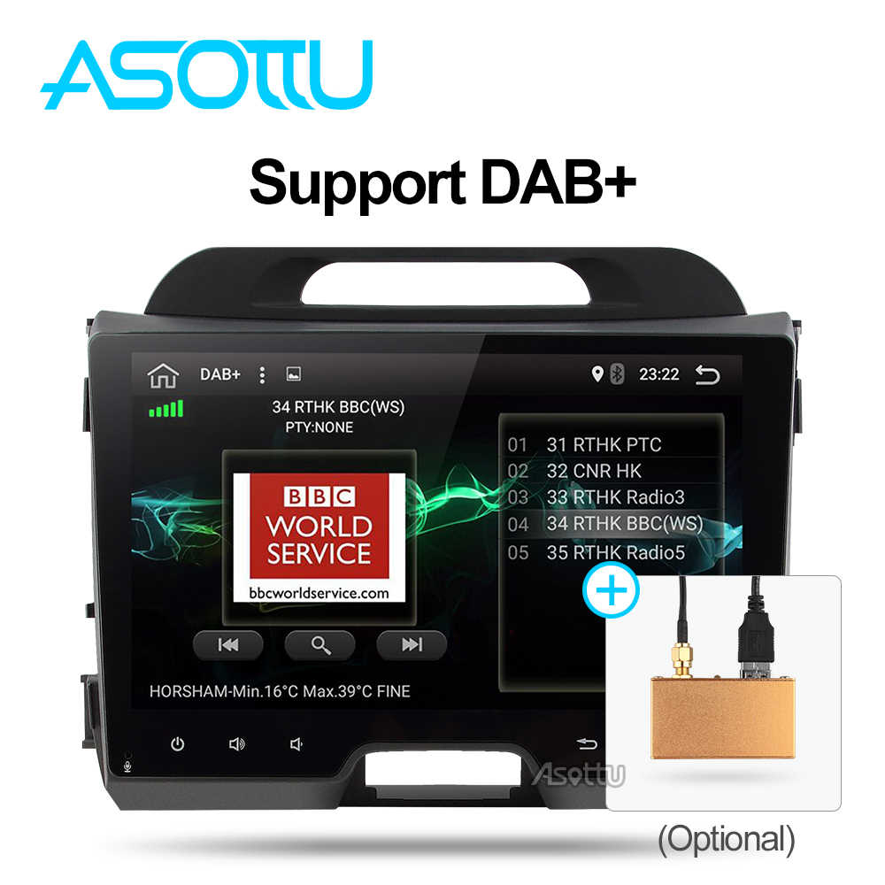 Android 9.0 Octa 8 core car dvd for KIA sportage 2011 2012 2013 2014 2015 headunit gps navigation 2 din car multimedia player