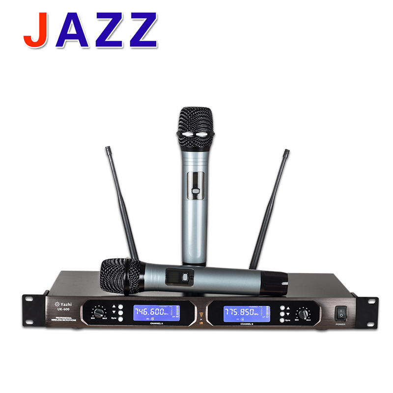 top quality diversity uhf wireless microphone system with dual handheld transmitter mic for. Black Bedroom Furniture Sets. Home Design Ideas