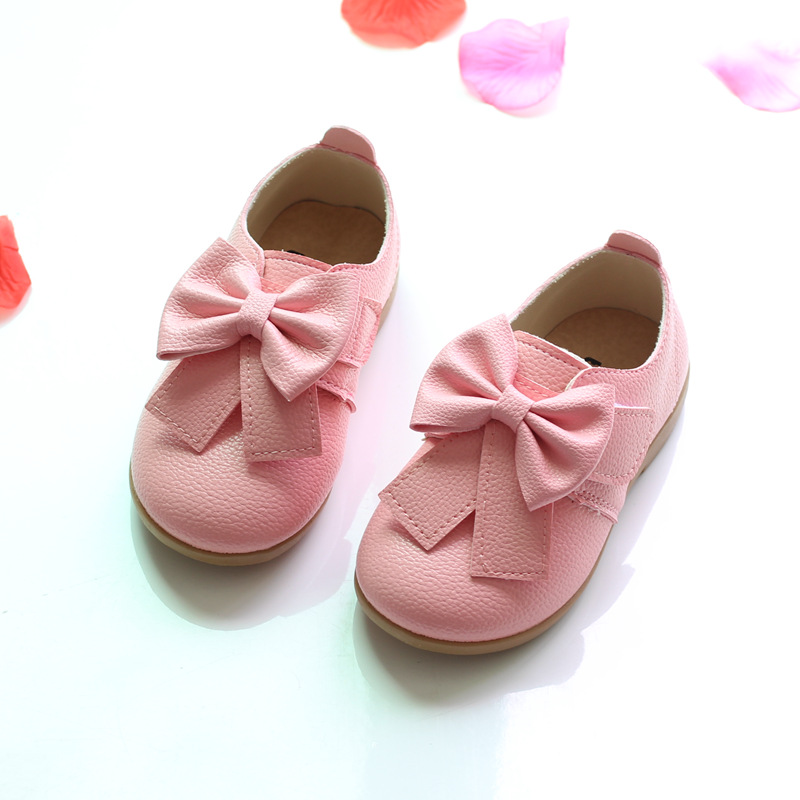 2017 new candy colored bow shoes girls shoes girls fashion casual shoes size 21 30 WEIDA