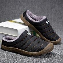 ฤดูหนาวผู้ชายรองเท้าแตะสำหรับรองเท้าแตะMan Warm Plushรองเท้าสบายๆรองเท้าผ้าใบนุ่มชั้นลายชายในร่มรองเท้า ลื่น