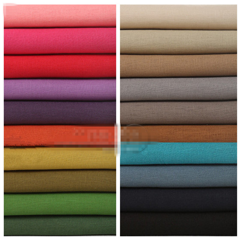 1 metro de linho tecido de algodão para costura quilting tecidos para patchwork DIY pano sólida telas fat quarters trabalho manual costura zakka