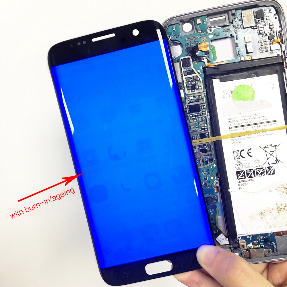 Original Super AMOLED For Samsung Galaxy S7 Edge G935F Burn in Shadow Lcd Display With Touch