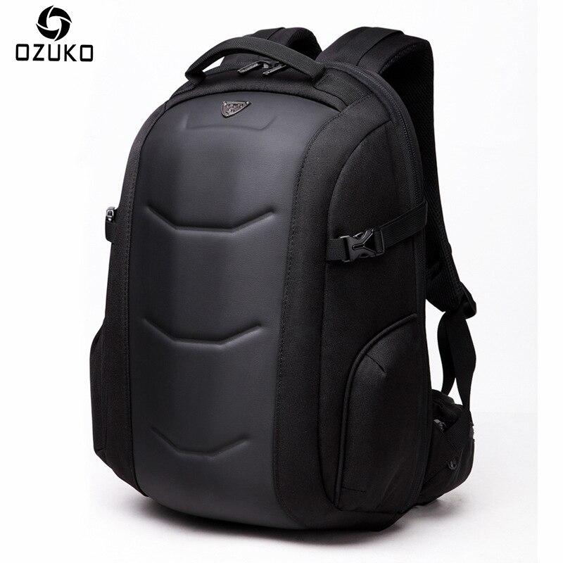 OZUKO New Original Backpack Men Business Laptop Backpack Multifunction Waterproof Travel Bag Male School Backpacks For